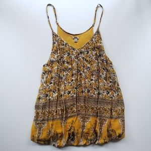 UO ECOTE Yellow Floral Tank Size XS